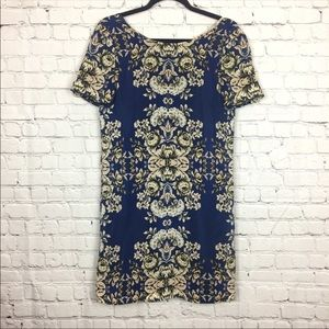 Madewell Floral Silk Dress Small